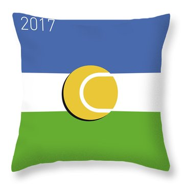 My Grand Slam 04 Us Open 2017 Minimal Poster Throw Pillow by Chungkong Art
