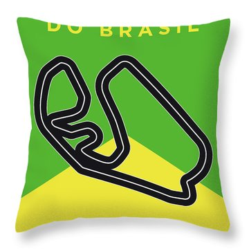 My Grande Premio Do Brasil Minimal Poster Throw Pillow