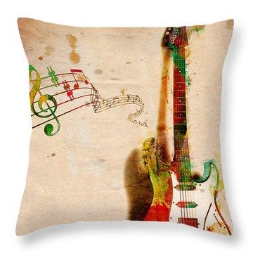My Guitar Can Sing Throw Pillow