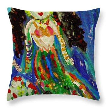 My Gypsy Mermaid Throw Pillow