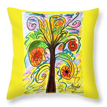 My Happiness Tree.... Throw Pillow