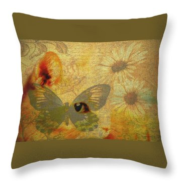 My Heart In A Box Throw Pillow