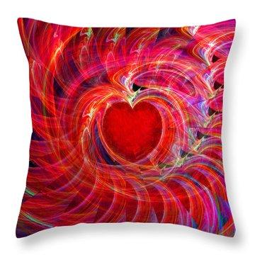 My Heart Is All A Flutter Throw Pillow by Michael Durst