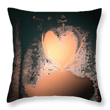 My Heart Is On The Moon Throw Pillow by Lenore Senior