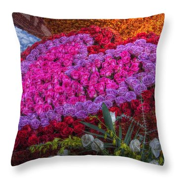 My Heart Of Roses Throw Pillow