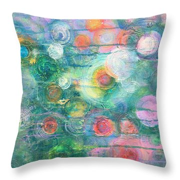 Throw Pillow featuring the painting My Heart Will Find You by Laurie Maves ART