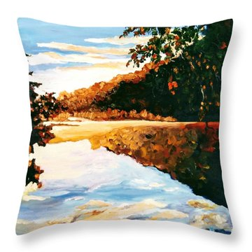 Throw Pillow featuring the painting My Horizon by Ray Khalife