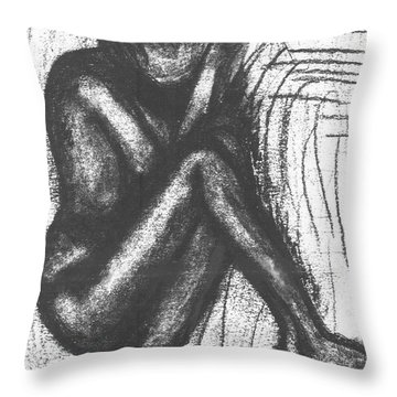 My Humble Spirit Base Drawing Throw Pillow by Angela L Walker
