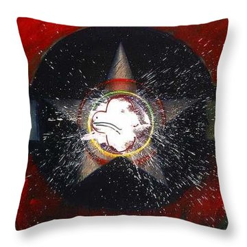 Throw Pillow featuring the painting My Indian Red by Charles Stuart