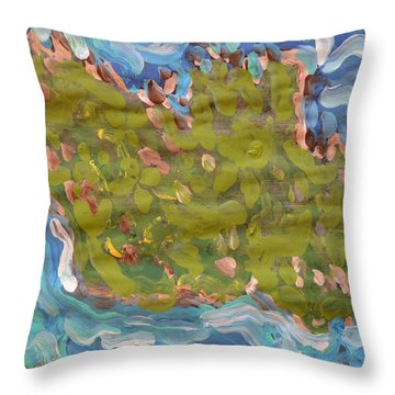 My Island Throw Pillow