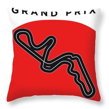 My Japanese Grand Prix Minimal Poster Throw Pillow