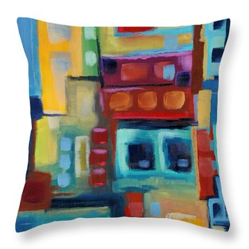 Throw Pillow featuring the painting My Jazz N Blues 3 by Holly Carmichael