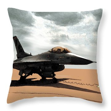 My Jet Throw Pillow by Walter Chamberlain