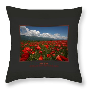 My Joy Spreads To Everyone Else Throw Pillow by Donna Corless