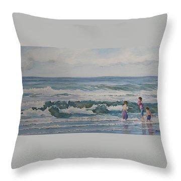 My Kind Of Beach Boys Throw Pillow