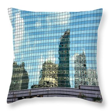 Throw Pillow featuring the photograph My Kind Of Town by Sandy Molinaro