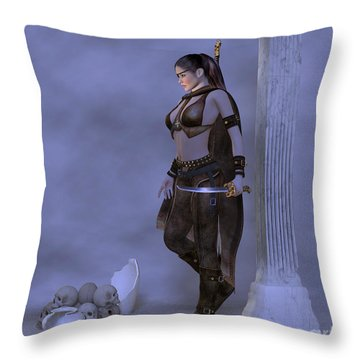 My Country  My Sword Throw Pillow