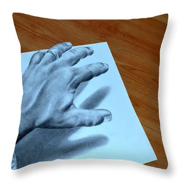My Left Hand Throw Pillow