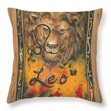 My Leo  Throw Pillow