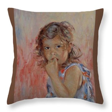 My Little Baby  Throw Pillow