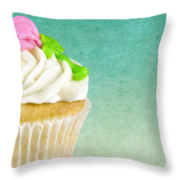 My Little Cupcake Throw Pillow