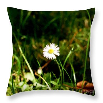 My Little Daisy Throw Pillow