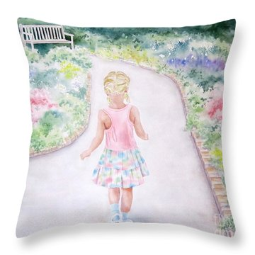 My Little One Throw Pillow by Deborah Ronglien
