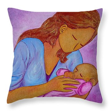 My Little Sweetness Throw Pillow by Gioia Albano
