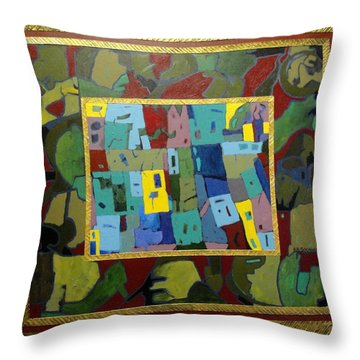 My Little Town Throw Pillow