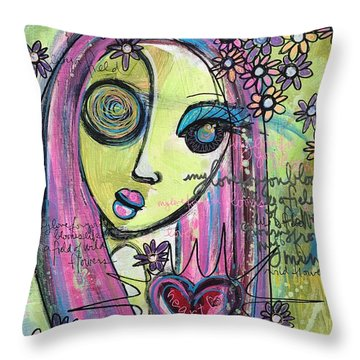 My Love For You Blooms Throw Pillow by Laurie Maves ART