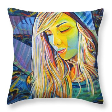 Throw Pillow featuring the painting My Love by Joshua Morton