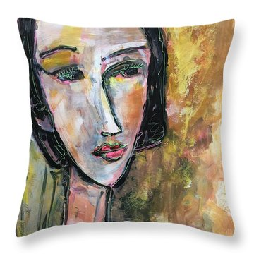 Throw Pillow featuring the painting My Love Lies On The Amalfi by Laurie Maves ART