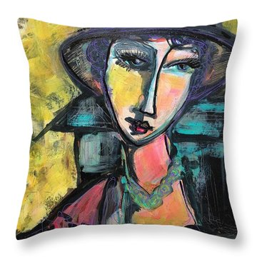 Throw Pillow featuring the painting My Love Lies With Florence by Laurie Maves ART