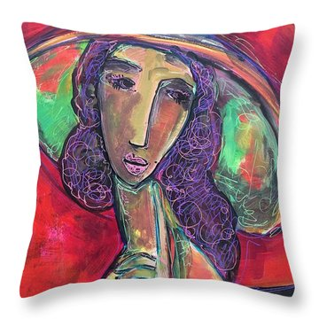 Throw Pillow featuring the painting My Love Lies With Rome by Laurie Maves ART