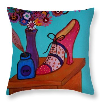 Throw Pillow featuring the painting My Love by Pristine Cartera Turkus