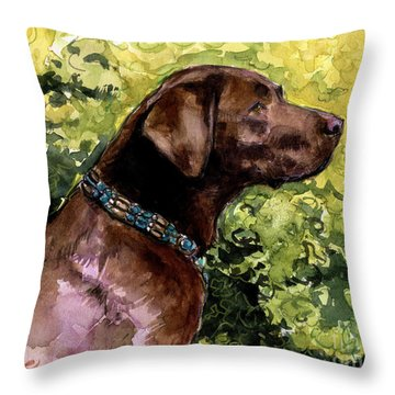 My Lucky Charm Throw Pillow by Molly Poole