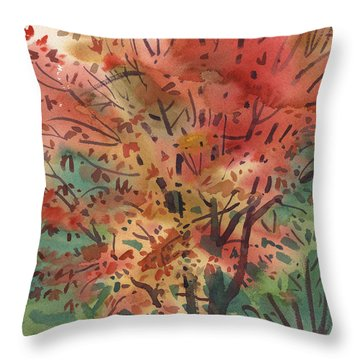 My Maple Tree Throw Pillow by Donald Maier
