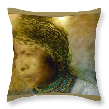My Memory Walks Before Me Throw Pillow by FeatherStone Studio Julie A Miller