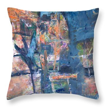 My Maple Tree Alive And Dead Throw Pillow by Betty Pieper