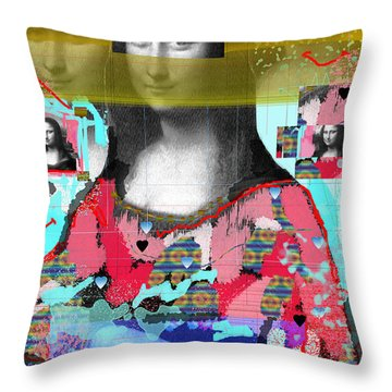 My Mona Throw Pillow by Sladjana Lazarevic