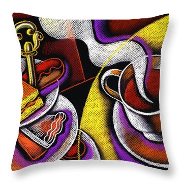 My Morning Coffee Throw Pillow