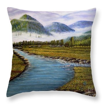 My Morning Walk With God Throw Pillow