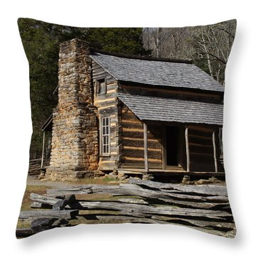 Throw Pillow featuring the photograph My Mountain Home by B Wayne Mullins