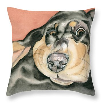 My Muse Throw Pillow by Kimberly Lavelle