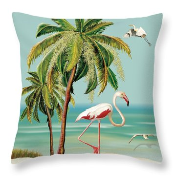 Throw Pillow featuring the painting My Name Is Flame by Anne Beverley-Stamps
