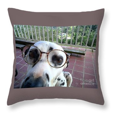 Throw Pillow featuring the photograph My New Secretary by The Art of Alice Terrill