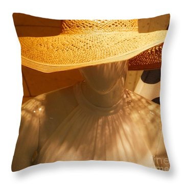My New Summer Hat Throw Pillow