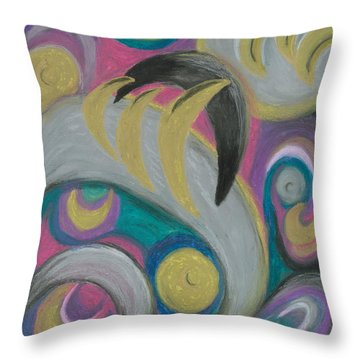 Throw Pillow featuring the painting My New Universe by Ania M Milo