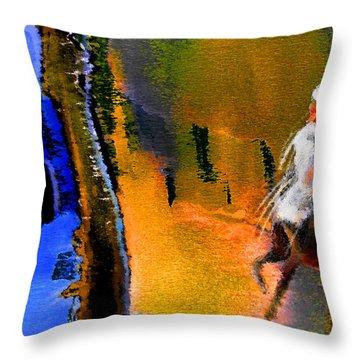 My Oasis Throw Pillow by Miki De Goodaboom