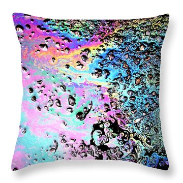 My Obsession With Asphalt II Throw Pillow by Anna Villarreal Garbis